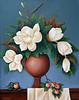 """Magnolia Grandi Flora"" 11"" x 14"" 2004 Acrylic on canvas."