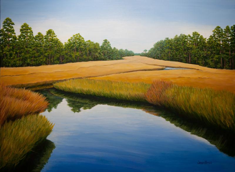 """Reflections: Jamestown Marsh"""