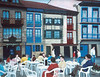"""Hondarribia Town Square"" 16"" x 20"" 1998 Acrylic."