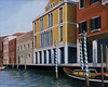 """Grand Canal, Venice""  10"" x 12"" 1995: Acrylic on board."