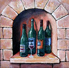 """Wine Selection"" 5"" x 5"" 2004 Acrylic on gallery wrap canvas.  Private collection."