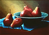 """Kodak Pears""  9"" x 12"" 1999 Acrylic on canvas."