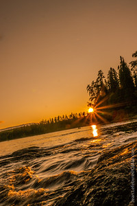 Sunset on the Ashuapmushuan River in Northern Quebec