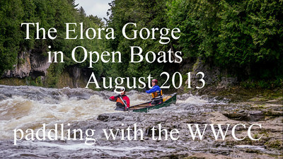 The Elora Gorge in Open Boats