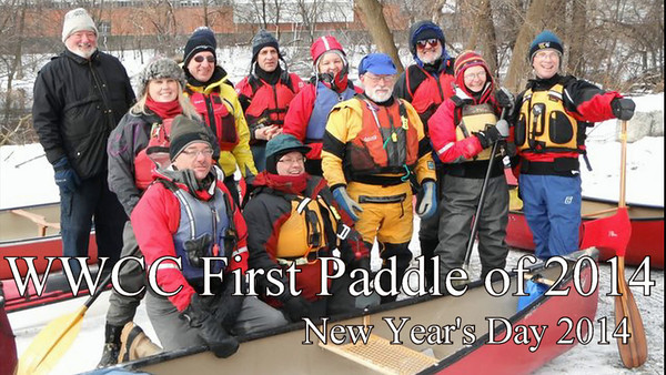 New Year's Day 2014 Canoeing