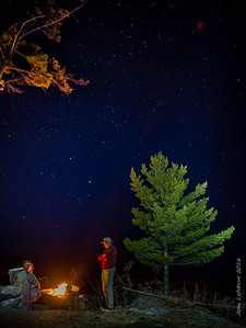 Starry night by the fire