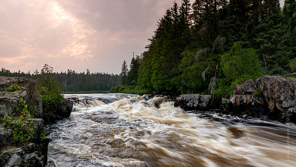 Hook Rapids in evening light