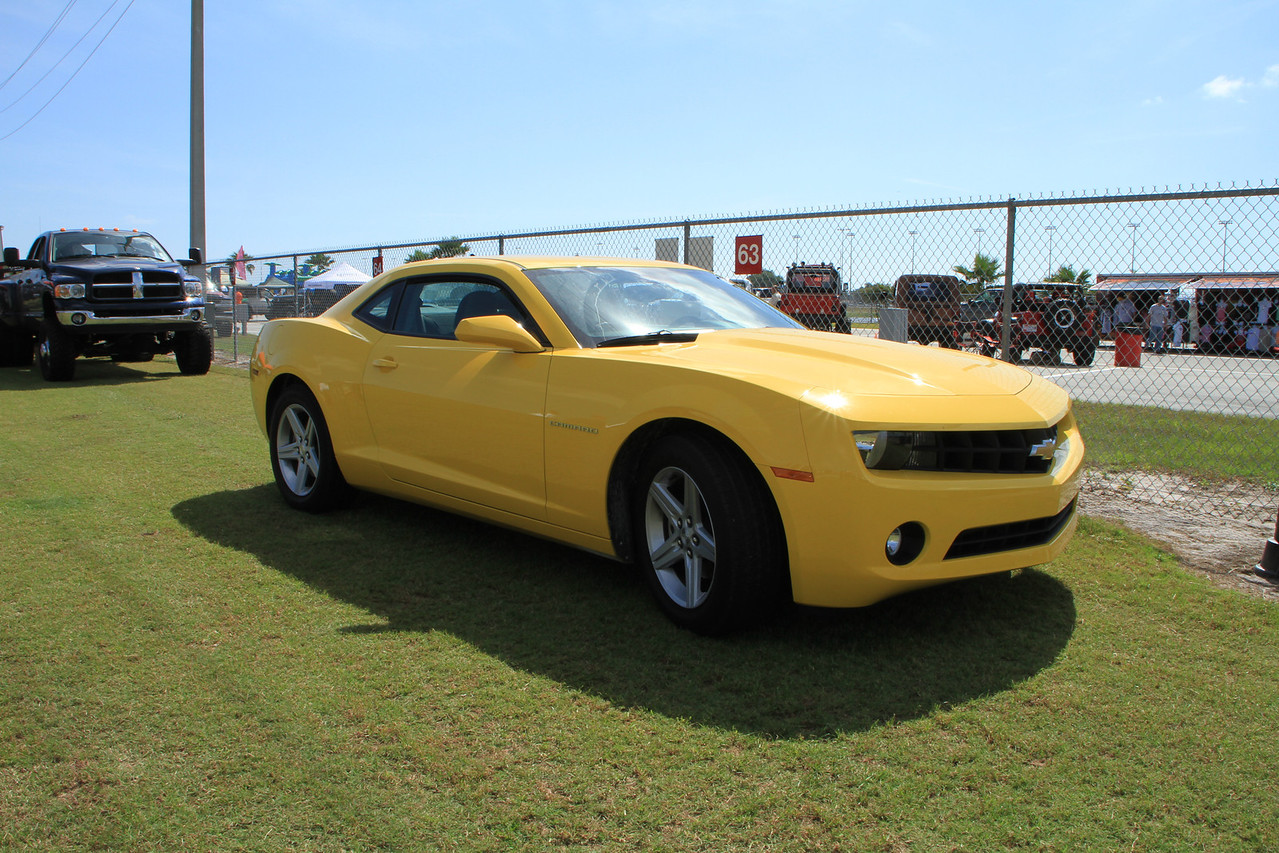 Couldn't help photo of new Camero among the Jeeps :)