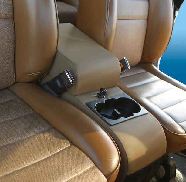 32001 - Black Vinyl<br /> 32011 - Gray<br /> 32015 - Denim Black<br /> 32017 - Spice<br /> <br /> Universal Application: Fits between most bucket seats<br /> Jeep®  Application: 76-95 Jeep®  CJ & Wrangler