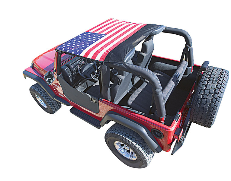 5575JKB	- 55-75 Jeep CJ5 - Black Mesh Only<br /> 7683JKB*	-76-83 Jeep CJ5 - Black Mesh Only<br /> 7691JKB*	- 76-91 Jeep CJ & YJ - Available in (5) Styles<br /> 9295JKB*	- 92-95 Jeep YJ Wrangler - Available in (5) Styles<br /> 9702JKB &	- 97-06 Jeep TJ Wrangler - Available in (5) Styles<br /> 50710 $	- 07-09 Jeep JK Wrangler 2 Door - Black Mesh Only<br /> 50711 $	- 10-C Jeep JK Wrangler 2 Door - Black Mesh Only<br /> <br /> Opt: -1 American Flag  -2 Pirate -3 Confederate Flag -4 Camo