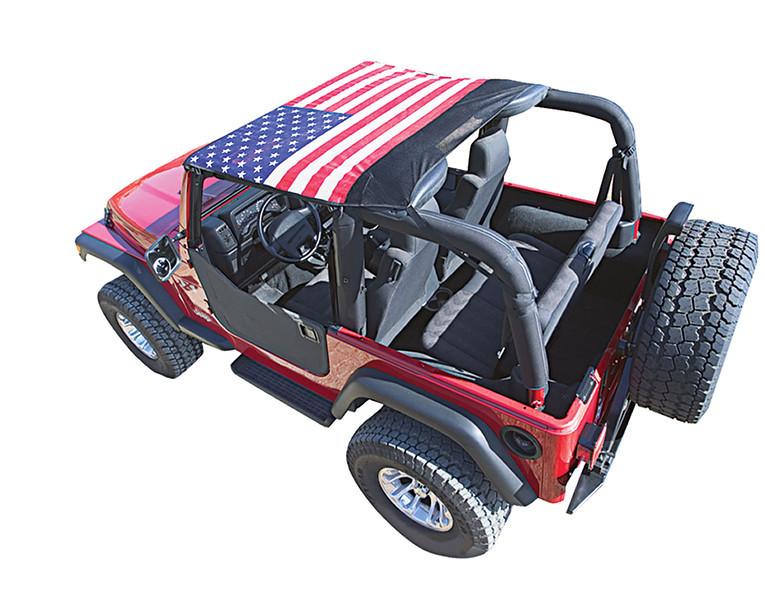 5575JKB- 55-75 Jeep CJ5 - Black Mesh Only<br /> 7683JKB*-76-83 Jeep CJ5 - Black Mesh Only<br /> 7691JKB*- 76-91 Jeep CJ & YJ - Available in (5) Styles<br /> 9295JKB*- 92-95 Jeep YJ Wrangler - Available in (5) Styles<br /> 9702JKB &- 97-06 Jeep TJ Wrangler - Available in (5) Styles<br /> 50710 $- 07-09 Jeep JK Wrangler 2 Door - Black Mesh Only<br /> 50711 $- 10-C Jeep JK Wrangler 2 Door - Black Mesh Only<br /> <br /> Opt: -1 American Flag  -2 Pirate -3 Confederate Flag -4 Camo