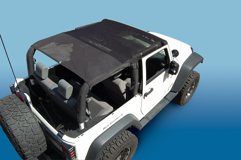 9295FJKB*	- 92-95 Jeep® YJ Wrangler<br /> 9702FJKB &	- 97-06 Jeep® TJ Wrangler<br /> 50460F &	- 03-06 Jeep TJ UNLIMITED - Black Mesh Only<br /> 50712F $	- 07-09 Jeep JK Wrangler 2 Door - Black Mesh Only<br /> 50713F $	- 10-C Jeep JK Wrangler 2 Door - Black Mesh Only<br /> 50714F $	- 07-09 Jeep JK Wrangler 4 Door - Black Mesh Only<br /> 50715F $	- 10-C Jeep JK Wrangler 4 Door - Black Mesh Only<br /> <br /> Opt: -1 American Flag  -2 Pirate -3 Confederate Flag -4 Camo