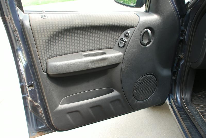 Driver door before speaker installation