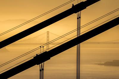 Bay Bridge looking through Golden Gate