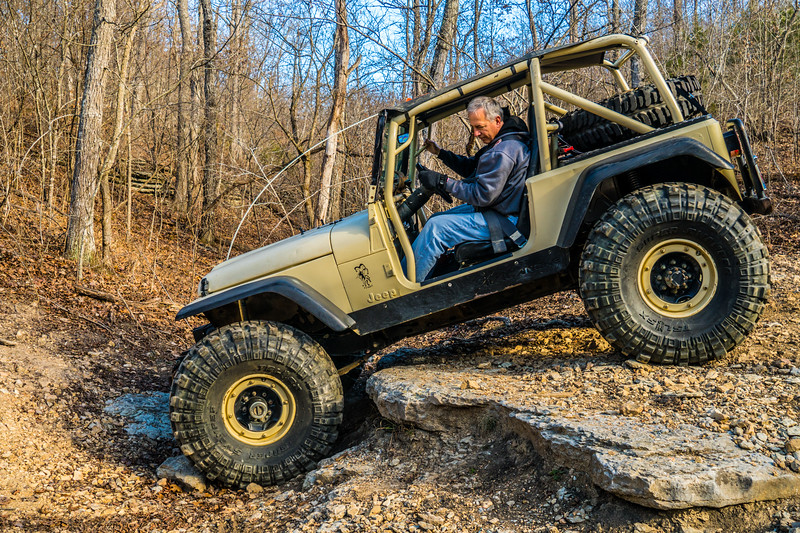 Kirt has been working on this rig for years. Loves Jeeping