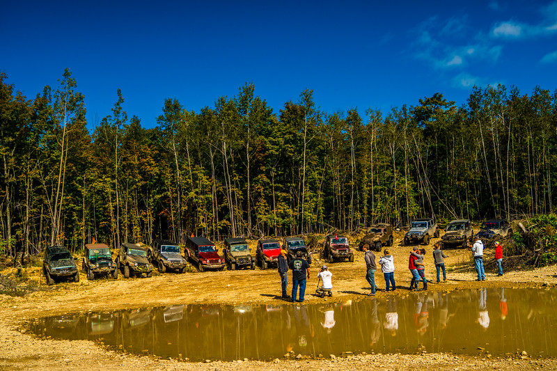 Picture of them taking a picture of their Jeeps :)