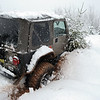 Jeep Stuck in Snow - Springhill, Nova Scotia