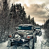 Jeeps Snow Wheeling in Springhill, Nova Scotia
