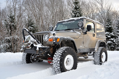 Lifted Jeep in the Snow - Springhill, Nova Scotia