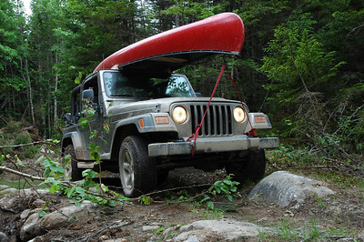 Jeep Off-Road with Canoe - Nova Scotia