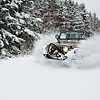 Lifted Jeep Blasting Through Fresh Snow - Springhill, Nova Scotia