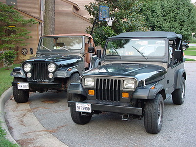 KW was driving the 93 Wrangler when Lori got her CJ