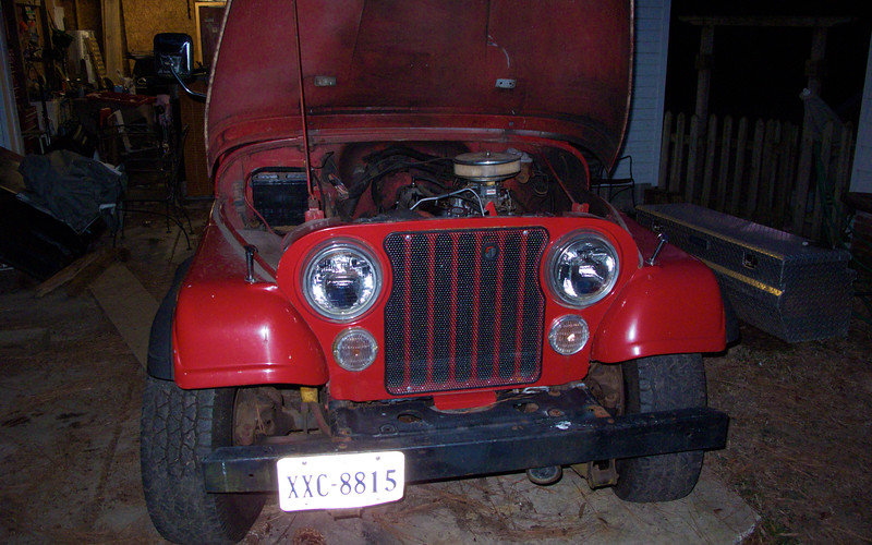 Jan 5  at the owner's house- The front end looks good, but will look better after some clean up.