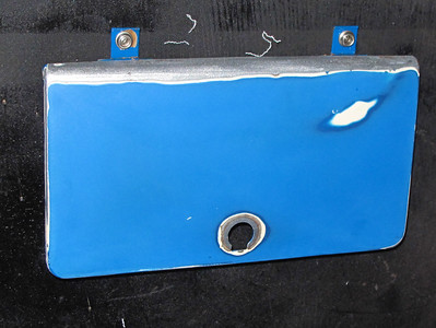 We sanded the glovebox for re-painting