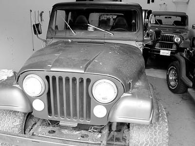 Day one in the shop with three other Jeeps.