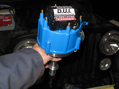 Day two, new D.U.I  Electronic ignition distributor