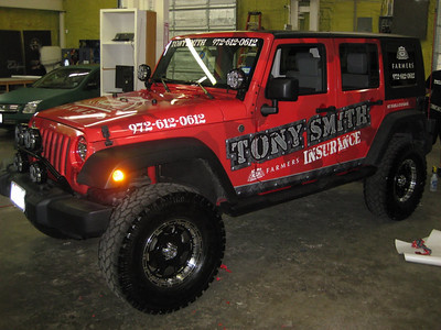 Vehicle Wrap for Farmers Insurance Agent Tony Smith in Dallas, TX www.skinzwraps.com