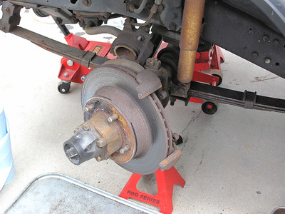 Caliper is off, now time for the rotor.