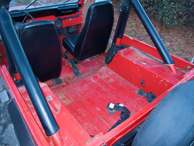 Jan 10 I'm going to fix all the rust, paint the interior with Line-X, and put the back seat in.