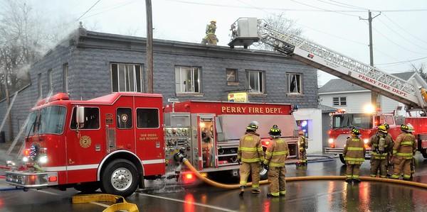 2 Alarm Commercial Building Fire  - Covington Street, Perry, NY - 12/31/18