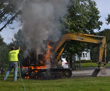 Excavator fire - East Lake Road  Livonia, NY- 9/18/19