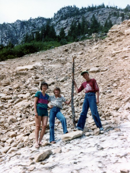 Colleen, Lisa and Jeff on North Cascades Highway