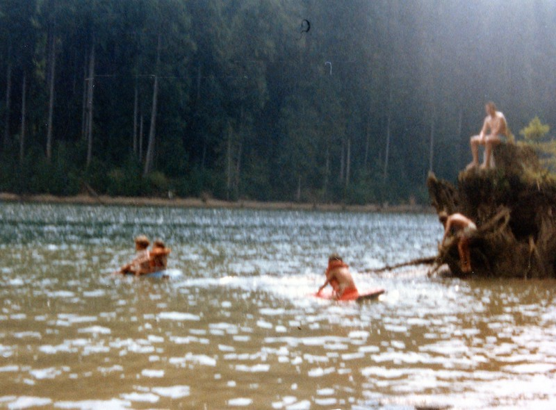 Swimming at Swift Creek reservoir