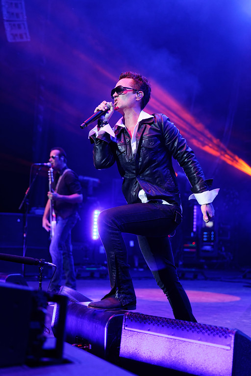 . Stone Temple Pilots live at Michigan Lottery Amphitheatre on 7-24-2018..  Photo credit:  Copyright Ken Settle