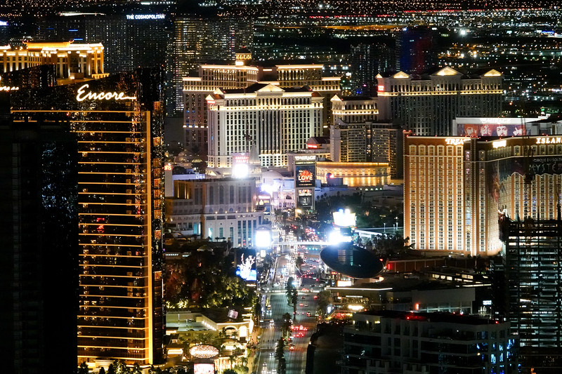 Las Vegas Strip, from the Stratosphere