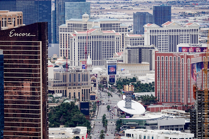 A view of the Las Vegas Strip, as seen from the Stratosphere Hotel.