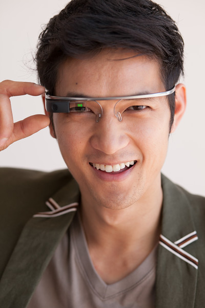 Harry Shum, Jr. and his Google Glass