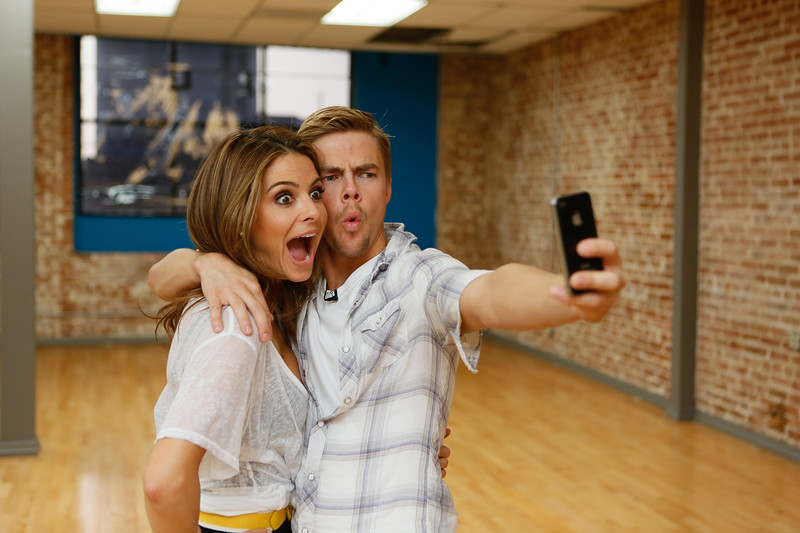 Maria Menonous and Derek Hough