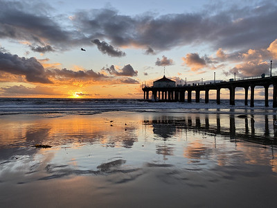 Manhattan Beach California sunset