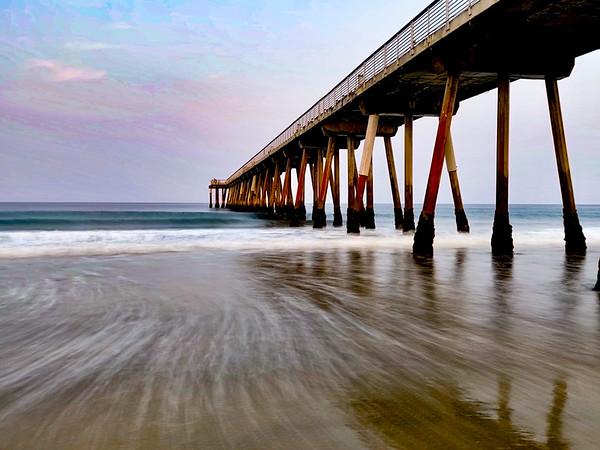 """""""Hermosa Beach Pier 6:59 a.m."""""""