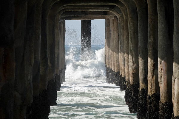Under the Manhattan Beach Pier on 12/18/19