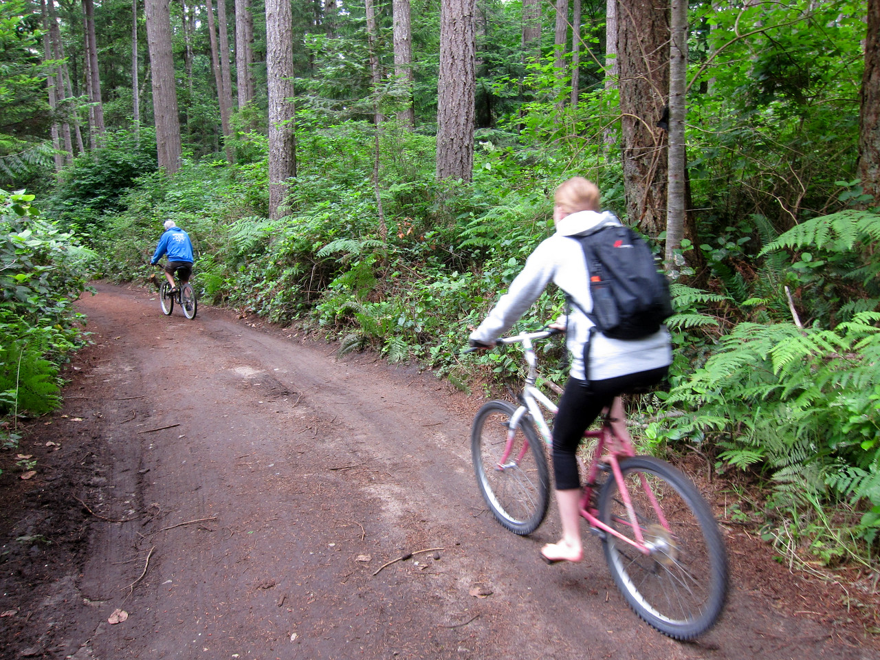 Bike riding in Savary Island