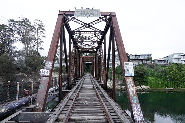 The iconic Trestle bridge that once upon a time brought trains directly to the Santa Cruz Wharf. Was seen in the Lost Boys movie.