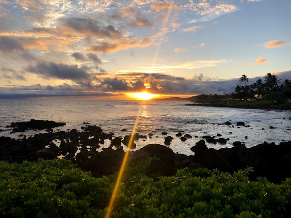 Sunset over Poipu Beach, Kauai