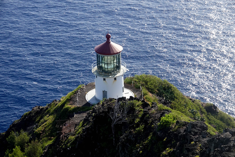 The Makapuu lighthouse on Oahu