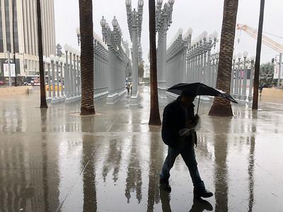 LACMA in the rain